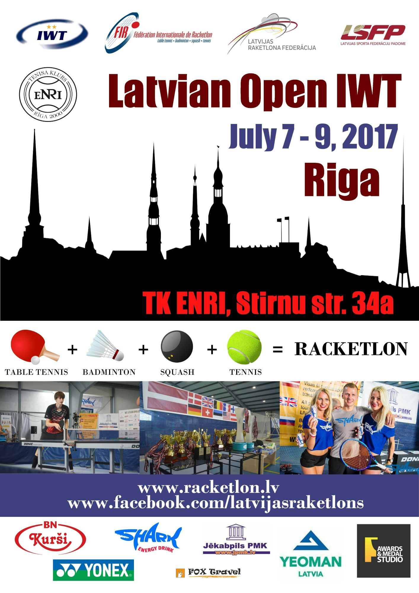 IWT Latvian Open 2017 Welcome